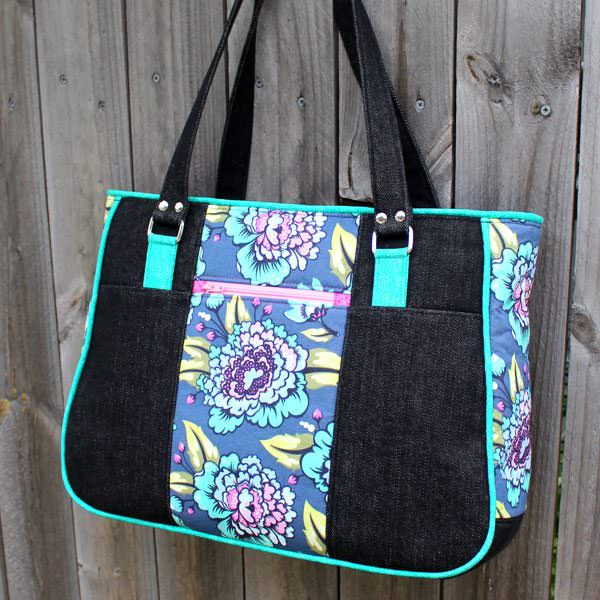 Teal Tula Pink Goin' Uptown Tote - Andrie Designs