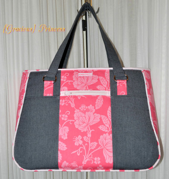 Pretty 'n pink Goin' Uptown Tote - Andrie Designs