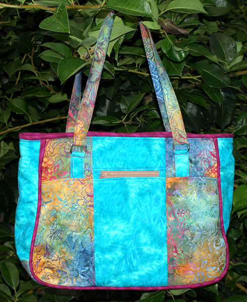 Beautiful blue batik Goin' Uptown Tote - Andrie Designs