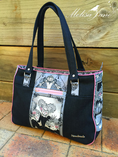 Goin' Uptown Tote - two pretty poppets