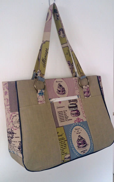 Beautiful high tea-themed Goin' Uptown Tote - Andrie Designs