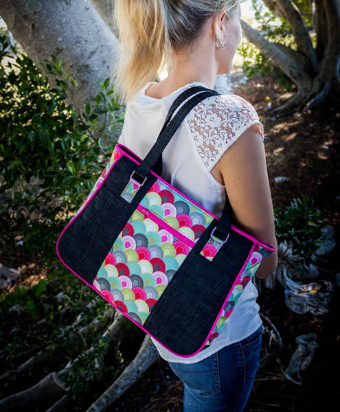 Carries great on your shoulder! Goin' Uptown Tote - Andrie Designs
