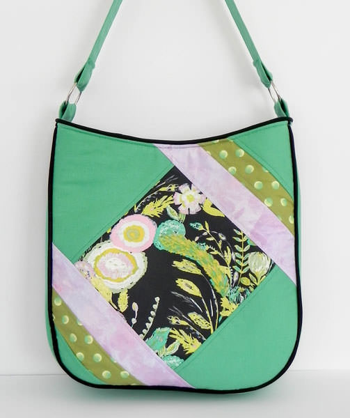 Beautiful green with a touch of pink Feature Me Everyday Tote - Andrie Designs