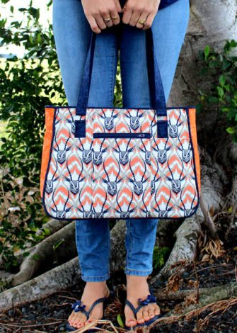 Cotton + Steel-themed Goin' Uptown Tote - Andrie Designs