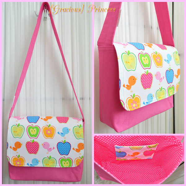 Pretty and pink Good-To-Go Messenger Bag - Andrie Designs