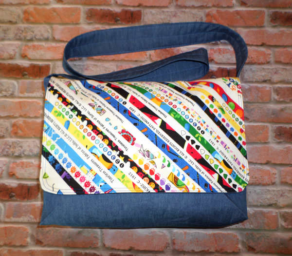 Colourful Selvages Good-To-Go Messenger Bag - Andrie Designs