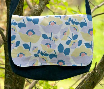 Pastel floral Good-To-Go Messenger Bag - Andrie Designs
