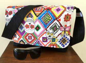 Colourful sugar skulls Good-To-Go Messenger Bag - Andrie Designs