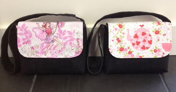 Fairies and tea parties Good-To-Go Messenger Bags - Andrie Designs