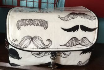 Moustache-themed Hang About Toiletry Bag - Andrie Designs