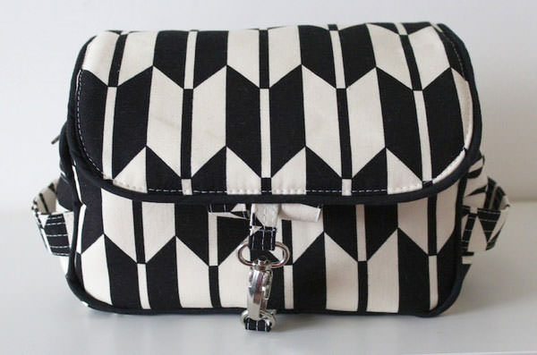 Classic black and white Hang About Toiletry Bag - Andrie Designs