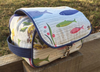 Fantastic fishing-themed Hang About Toiletry Bag - Andrie Designs