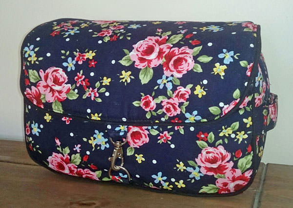 Navy floral Hang About Toiletry Bag - Andrie Designs