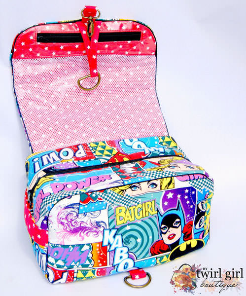 SUPER-themed Hang About Toiletry Bag - Andrie Designs