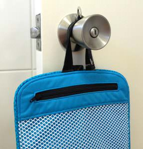 Hang on a door knob or hook! Hang About Toiletry Bag - Andrie Designs