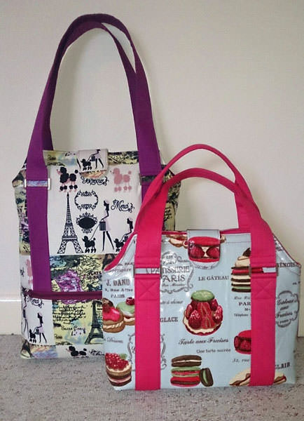 Two sizes in laminated cotton! Heavy Hauler Tote Bag - Andrie Designs
