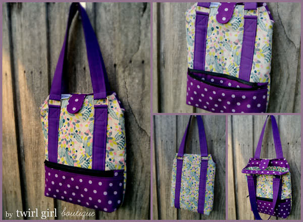 Love this purple and floral version! Heavy Hauler Tote Bag - Andrie Designs