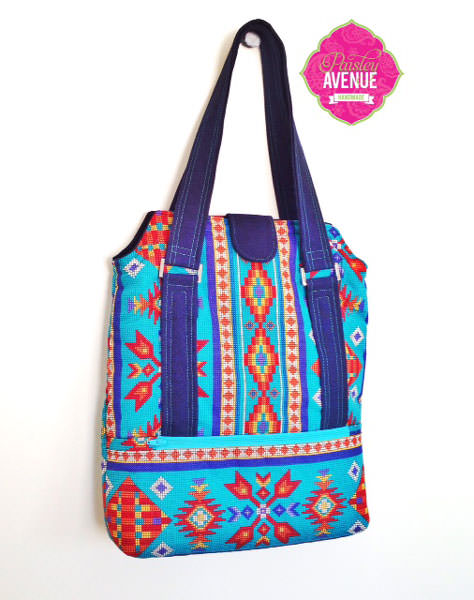 Aztec-themed Heavy Hauler Tote Bag - Andrie Designs