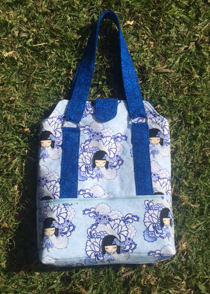 Check out this oriental and blue Heavy Hauler Tote Bag - Andrie Designs