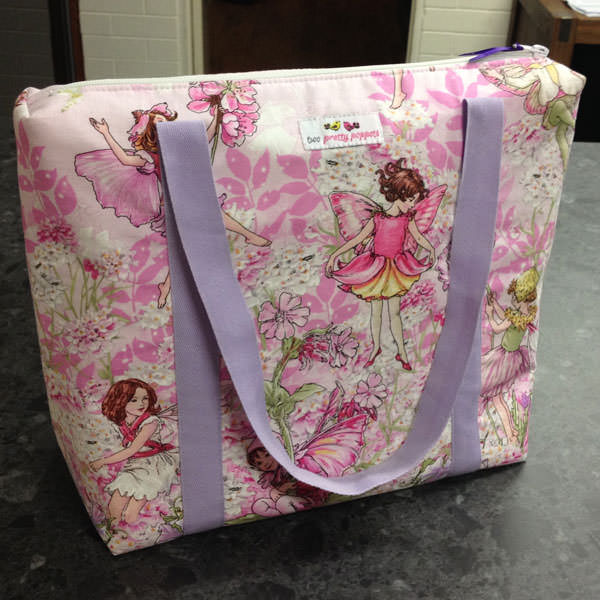Pink fairies Insulated Lunch Bag - Andrie Designs