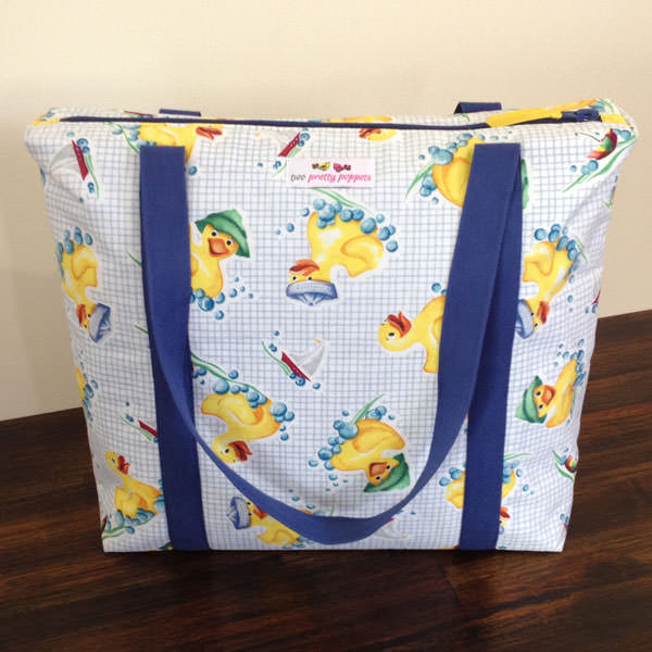 Yellow ducky Insulated Lunch Bag - Andrie Designs