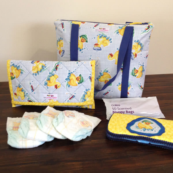 Yellow ducky Essential Diaper Clutch and Insulated Lunch Bag set - Andrie Designs