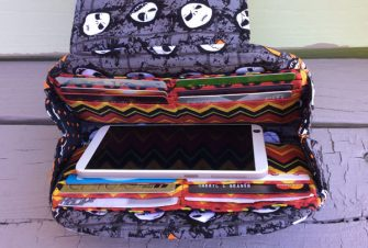 Inside view of the Halloween-themed Cleo Everyday Wallet - Andrie Designs