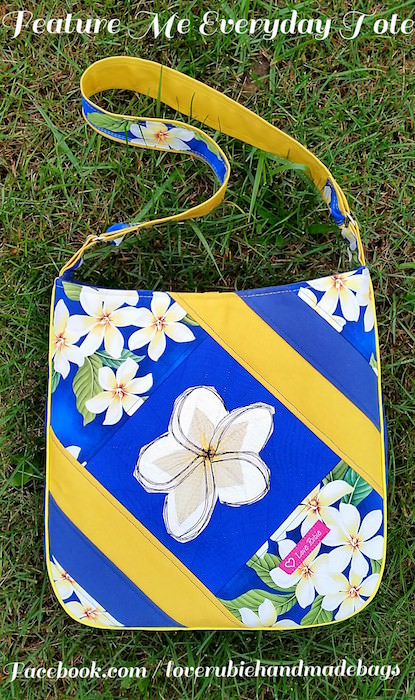Plumeria Block/Feature Me Everyday Tote - Love Rubie