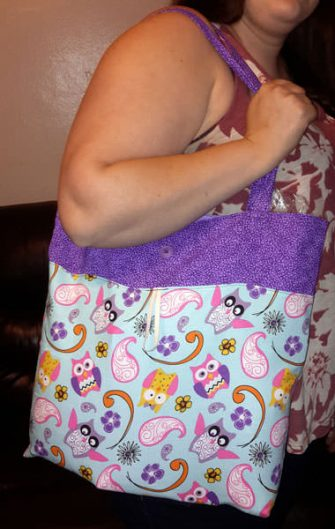 Pretty purple owls Reusable Grocery Bag - Andrie Designs
