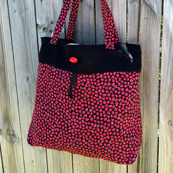 Little red ladybirds Reusable Grocery Bag - Andrie Designs