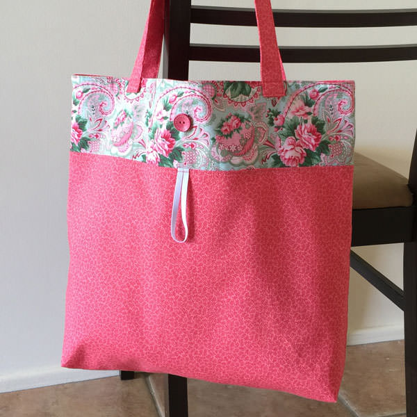 Paisley pink Reusable Grocery Bag - Andrie Designs
