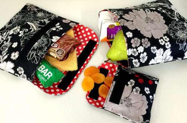 Reusable Snack Bag - two pretty poppets