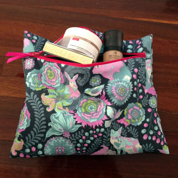 Beautiful Tula Pink-themed Reusable Snack Bag - Andrie Designs