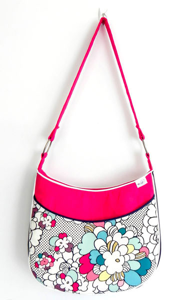 Pretty 'n pink small sized Roll With It Tote - Andrie Designs