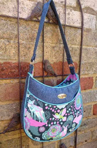 Tula Pink-themed Roll With It Tote - Andrie Designs