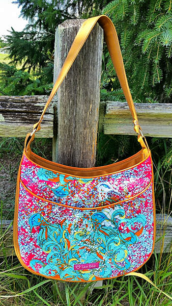 Stunning floral Roll With It Tote - Andrie Designs