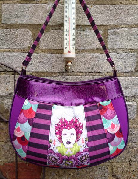 Stunning Tula Pink-themed Sew Compleat Shoulder Tote - Andrie Designs