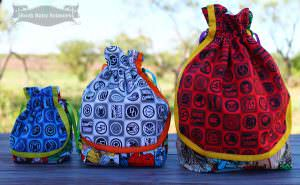 Super Drawstring Pouch - two pretty poppets