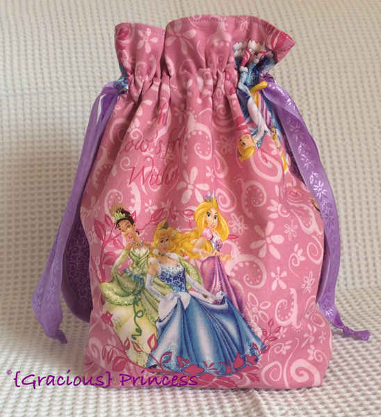 Princesses anyone? Super Drawstring Pouch - Andrie Designs