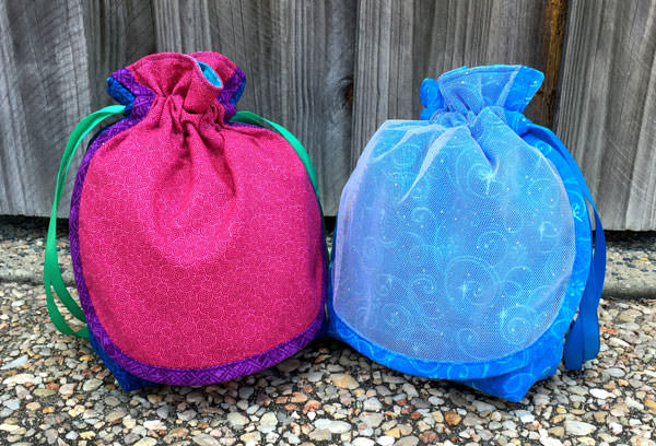 Elsa & Anna-themed Super Drawstring Pouches - Andrie Designs