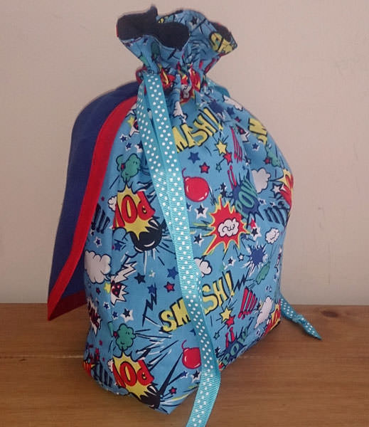 POW! SMASH! Super Drawstring Pouch - Andrie Designs