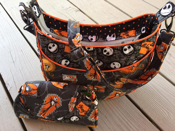 Halloween-themed Roll With It Tote and matching Cleo Everyday Wallet - Andrie Designs