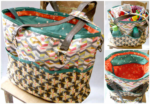 Stunning orange and green-themed Summer Lovin' Beach Tote - Andrie Designs