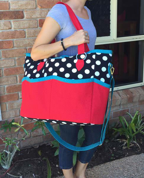 She's a great sized bag! Summer Lovin' Beach Tote - Andrie Designs