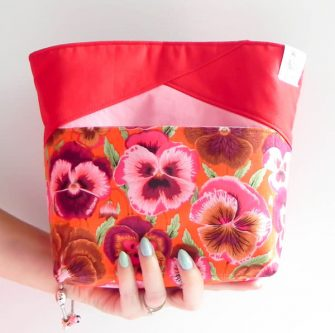 Such a beautiful and bright floral Stand Up Clutch - Andrie Designs