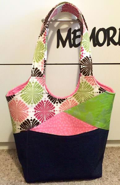 Beautiful lime and pink Stand Up & Tote Notice - Andrie Designs