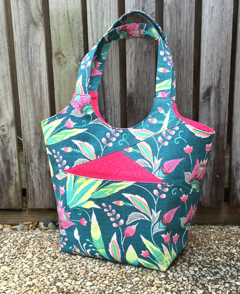 Teal and pink floral Stand Up & Tote Notice - Andrie Designs