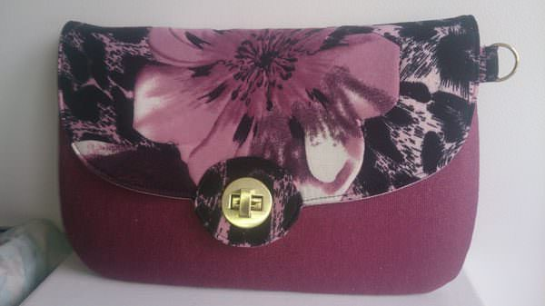 Beautiful magenta flower The Statement Clutch - Andrie Designs