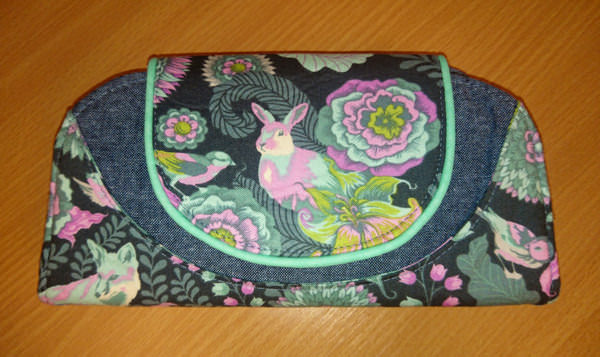 Stunning Tula Pink-themed Cleo Everyday Wallet - Andrie Designs