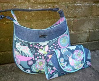 Matching Tula Pink-themed Roll With It Tote and Cleo Everyday Wallet - Andrie Designs